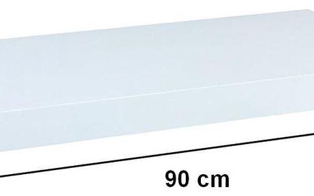 STILISTA VOLATO 31068 Nástěnná police - lesklá bílá 90 cm