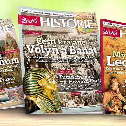 Kompletní ročník magazínu Živá historie 2020 s dárky