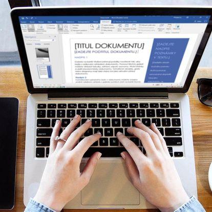 Online kurz Wordu s certifikátem