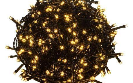 Voltronic 39456 Vánoční LED osvětlení 20 m - teple bílá 200 LED - zelený kabel