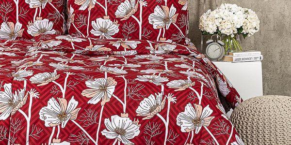 4Home Bavlněné povlečení Luční květina, 140 x 220 cm, 70 x 90 cm4