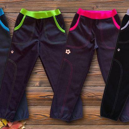 Dětské podzimní kalhoty ze softshellu zn. GUDO