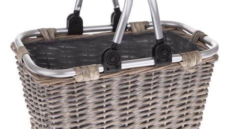 Proutěný košík s kovovými uchy Arlon, 25 x 22 x 22 cm