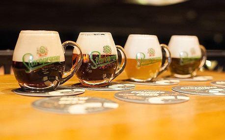 Degustace 5 druhů piva s občerstvením i výkladem v pivovaru Staropramen v Praze