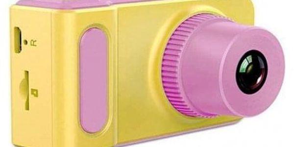 Dětský digitální mini fotoaparát s kamerou růžový