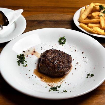 200g steak z pravé hovězí svíčkové a příloha
