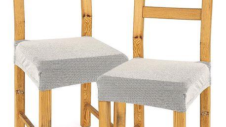 4Home Multielastický potah na sedák na židli Comfort smetanová, 40 - 50 cm, sada 2 ks