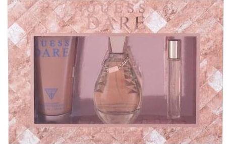 GUESS Dare dárková kazeta pro ženy toaletní voda 100 ml + toaletní voda 15 ml + tělové mléko 200 ml