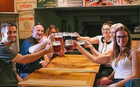 Škola čepování piva i s konzumací v pivovaru Staropramen v Praze