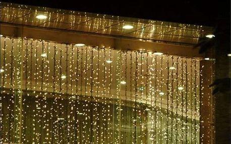 VOLTRONIC® 59572 Vánoční osvětlení - světelný závěs - 3x6 m teple bílá 600 LED