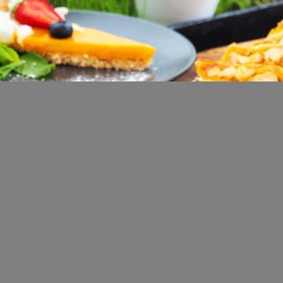 Kuřecí quesadilla, zauzené kachní prso a cheesecake