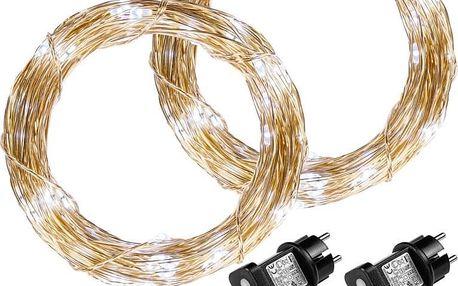 VOLTRONIC 68032 Sada 2 kusů světelných drátů - 50 LED, studeně bílá