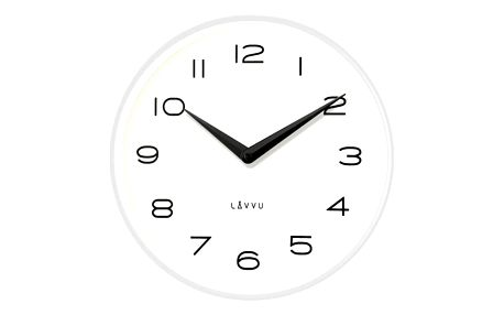 Lavvu LCT1213 Kovové hodiny Living, bílá a černá