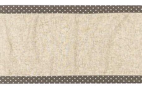 BO-MA Trading Běhoun Srdíčka puntík šedá, 40 x 140 cm