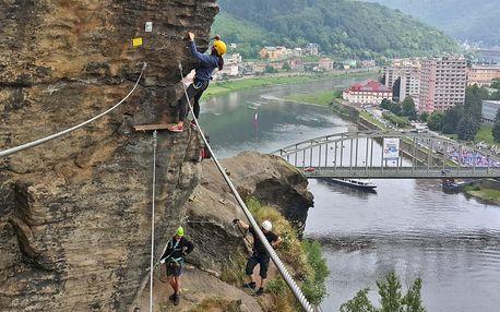 Půldenní kurz bezpečného via ferrata lezení v Děčíně