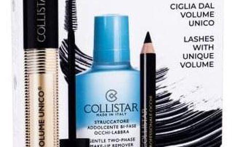 Collistar Volume Unico dárková kazeta pro ženy řasenka 13 ml + odličovací přípravek Gentle Two-Phase 50 ml + tužka na oči Professional Eye Pencil 0,8 g Black Intense Black