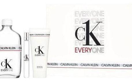 Calvin Klein CK Everyone dárková kazeta unisex toaletní voda 200 ml + toaletní voda 10 ml + sprchový gel 100 ml