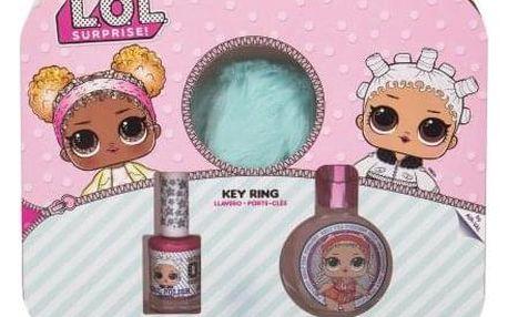 EP Line L.O.L. Surprise dárková kazeta pro děti toaletní voda 30 ml + lak na nehty 10 ml + klíčenka