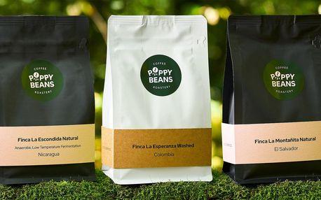 250 g pražené kávy typ espresso a filtr