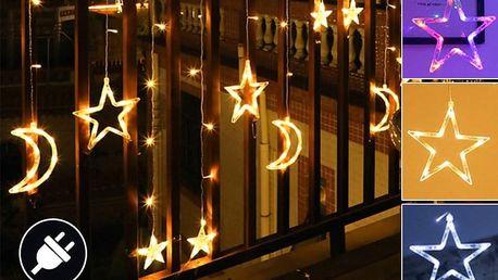 Vánoční LED světelný závěs – měsíc