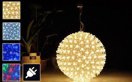 Vánoční LED světelná závěsná koule – průměr 13cm