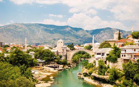 Bosna a Hercegovina + Makarská riviéra | Koupání pod vodopády | 5denní zájezd s ubytováním