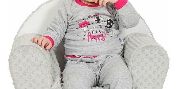 New Baby Dětské křesílko z Minky Liška šedá, 42 x 53 cm5