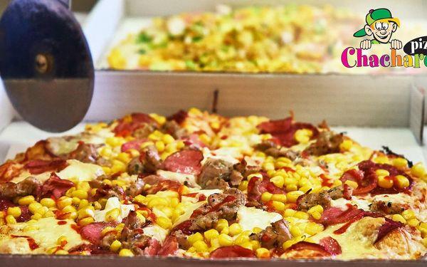 2× Chacharova pizza: výběr z 15 druhů a rozvoz