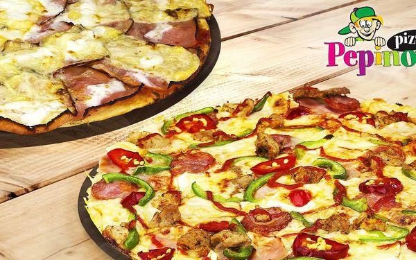 Dvě Pepinovy pizzy s rozvozem: výběr ze 14 druhů