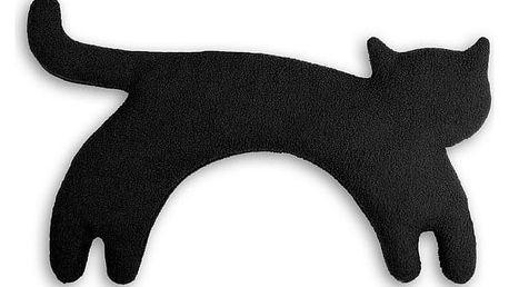 Leschi LESCHÍ Hřející polštářek kočka Minina 39x17cm černá/černá