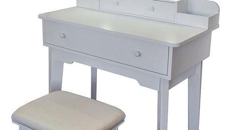 Kosmetický stolek se zrcadlem Beata, 75 x 40 x133 cm