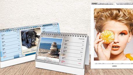 Stolní a nástěnné kalendáře z vlastních fotek