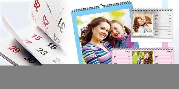 Nástěnný měsíční fotokalendář A32