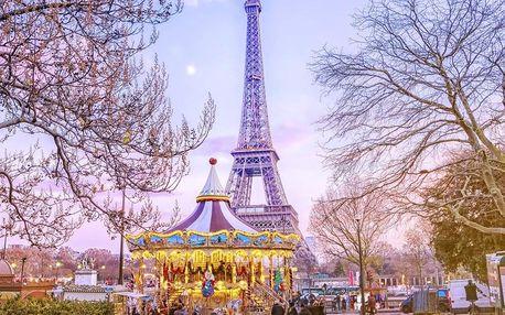 Adventní Paříž se zastávkou v Disneylandu s ohňostrojem
