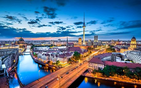 Město Berlín s ubytováním v hotelu se snídaní a 2 dětmi do 17 let zdarma