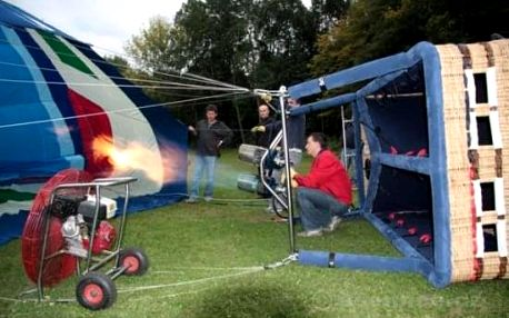 Let balónem Tábor