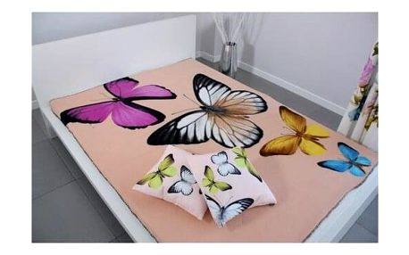 Domarex Deka BUTTERFLY 3D krémová, 150 x 200 cm