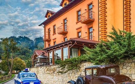 Jižní Čechy: Tábor v Hotelu Romantik Eleonora *** s konopnou koupelí Carun, sektem, překvapením a snídaněmi