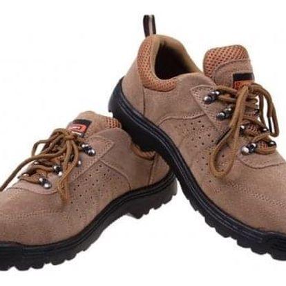 Boty pracovní kožené béžové vel. 44
