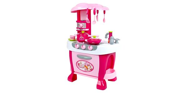 Bayo Velká kuchyňka s dotykovým sensorem + příslušenství Růžová4