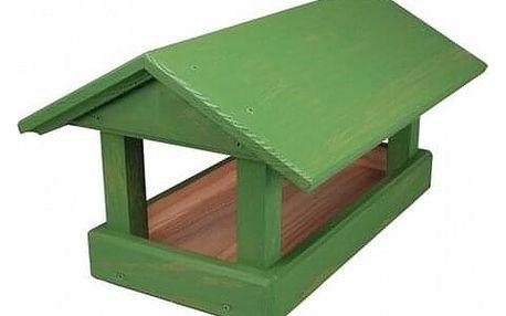 Krmítko pro ptáčky Home, zelená