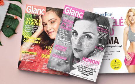 Roční předplatné časopisu Glanc s dárkem