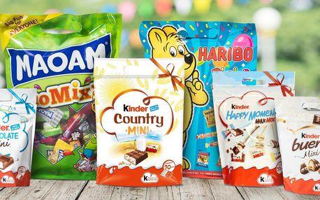 Pro mlsouny: dárkové balení Kinder, Maoam i Haribo
