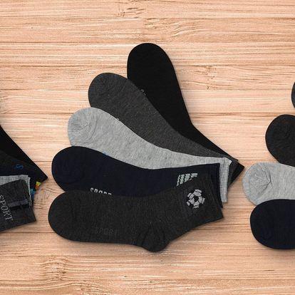 15 párů pánských ponožek na sport i běžné nošení