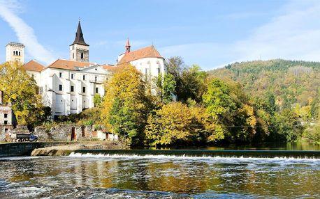 Kultura a relax u řeky Sázavy s polopenzí a kulturou či relaxem