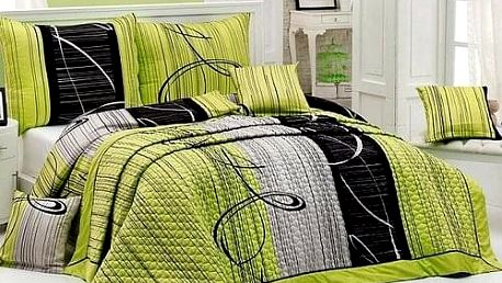 Matějovský Přehoz na postel Eternity Green, 220 x 240 cm
