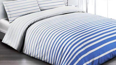 Gipetex Natural Dream Italské povlečení 100% bavlna Rigato blue