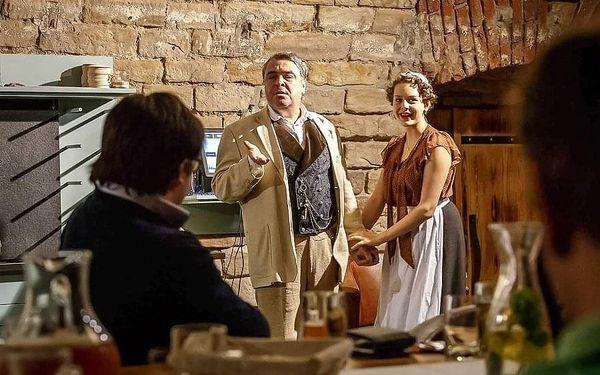 Divadelní hra s gurmánskou večeří v Počernickém pivovaru pro 1 osobu v termínu 8. 12. 20202