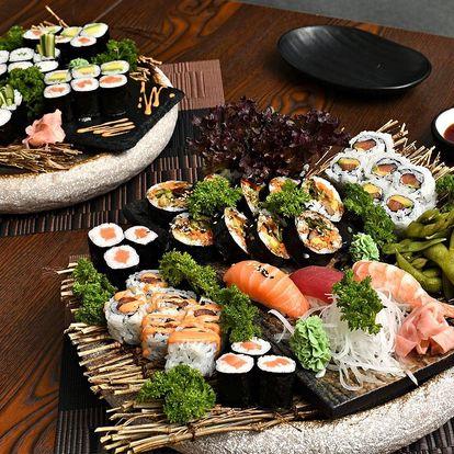 Bohaté sushi sety: s rybou i vegetariánské