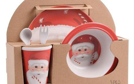Vánoční sada dětského bambusového nádobí, 5 ks